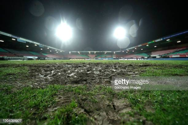 Goffert Stadium during the Dutch Keuken Kampioen Divisie match between NEC Nijmegen v NAC Breda at the Goffert Stadium on February 28, 2020 in...