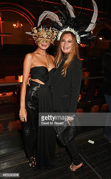 Goga Ashkenazi and Eva Cavalli attend Eva Cavalli's birthday dinner party at One Mayfair on October 9 2015 in London England
