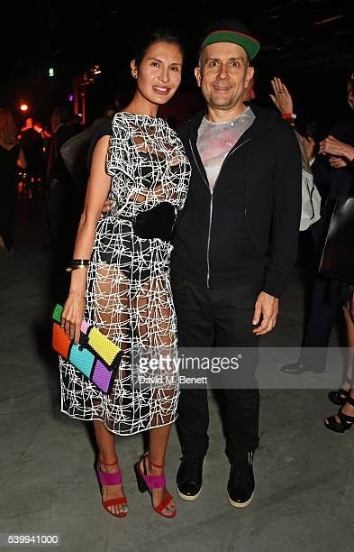 Goga Ashkenazi and Marc Quinn attend the UNAIDS Gala during Art Basel 2016 at Design Miami/ Basel on June 13 2016 in Basel Switzerland