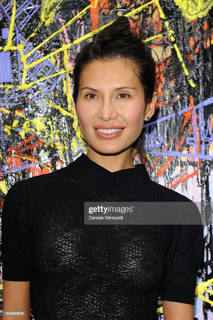 Goga Ashkenazi attends Cardi Black Box Gallery Present Nicolas Pol hosted by Nicolo Cardi And Vladimir Restoin Roitfeld at Cardi Black Box on October 14, 2013 in Milan, Italy.