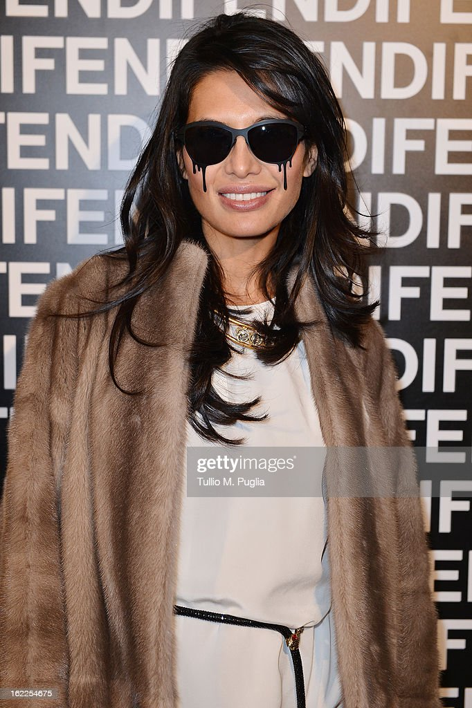 Goga Ashkenazi attends the Fendi fashion show as part of Milan Fashion Week Womenswear Fall/Winter 2013/14 on February 21, 2013 in Milan, Italy.