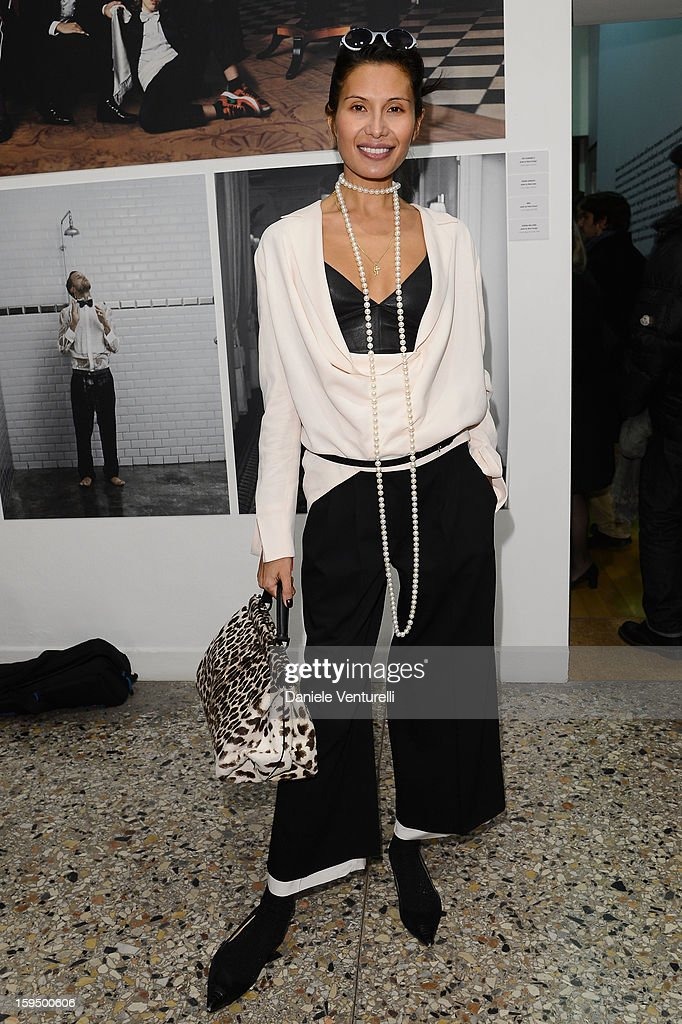 Goga Ashkenazi attends the 'So Chic So Stylish' cocktail party as part of Milan Fashion Week Menswear Autumn/Winter 2013 on January 14, 2013 in Milan, Italy.