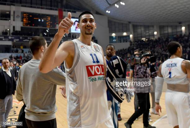 Goga Bitadze #11 of Buducnost Voli Podgorica during the 2018/2019 Turkish Airlines EuroLeague Regular Season Round 19 game between Buducnost Voli...