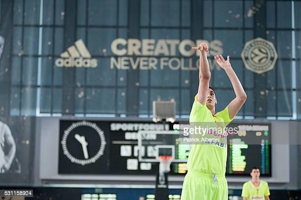 Goga Bitadze #11 of U18 Mega Bemax Belgrade during the Turkish Airlines Euroleague Basketball Adidas Next Generation Tournament game U18 FC Barcelona...