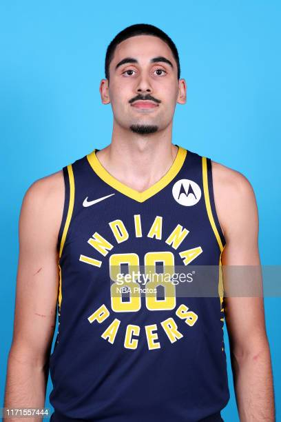 Goga Bitadze of the Indiana Pacers poses for a head shot during media day on September 27 2019 at Bankers Life Fieldhouse in Indianapolis Indiana...