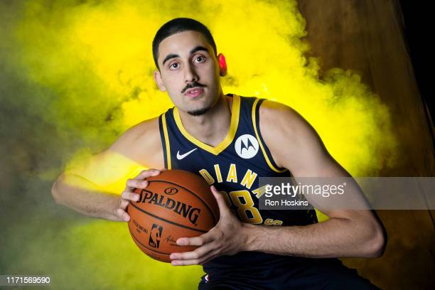 Goga Bitadze of the Indiana Pacers poses for a portrait during media day on September 27 2019 at Bankers Life Fieldhouse in Indianapolis Indiana NOTE...