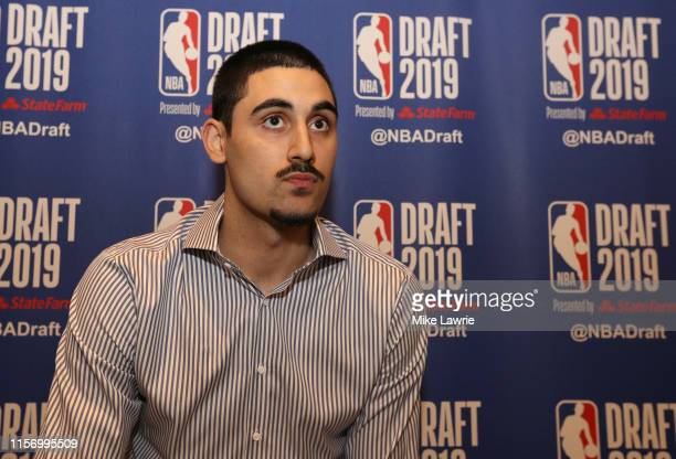Goga Bitadze speaks to the media ahead of the 2019 NBA Draft at the Grand Hyatt New York on June 19 2019 in New York City NOTE TO USER User expressly...