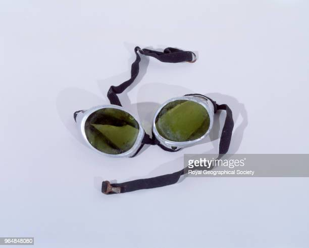 Goggles belonging to George Leigh Mallory George Mallory and Andrew Irvine disappeared en route to the summit of Mount Everest on 8th June 1924...