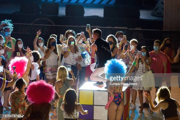 Gogo dancer performs during a pilot test of nightlife at the Hard Rock Ibiza on June 25 in Ibiza, Balearic Islands, Spain. With a capacity of 1,500...