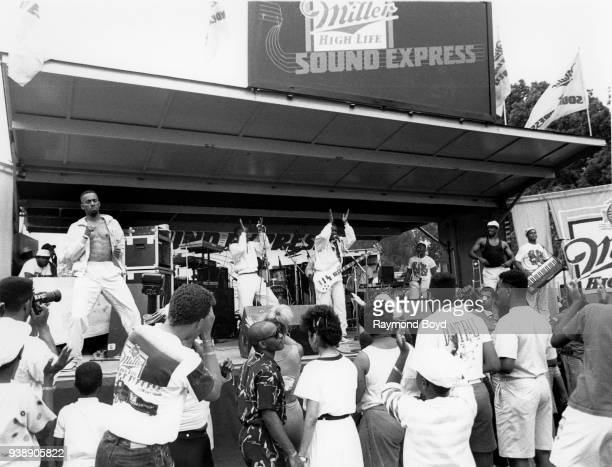 Gogo group EU performs during the Miller Sound Express concert in Milwaukee Wisconsin in June 1989
