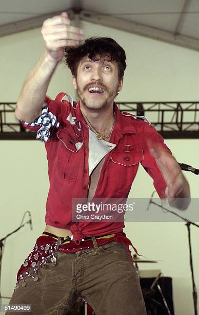 Gogol Bordello performs at the VooDoo Music Festival on October 17 2004 in New Orleans