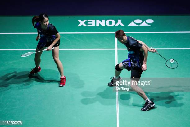 Goh Soon Huat and Lai Shevon Jemie of Malaysia compete in the Mixed Doubles first round match against Zheng Siwei and Huang Yaqiong of China on day...
