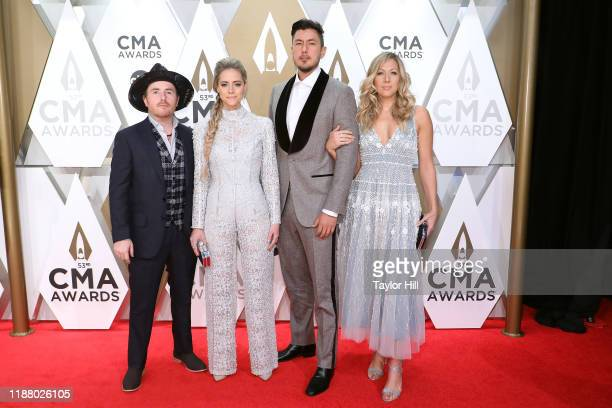 Goin' West and Colbie Caillat attend the 53nd annual CMA Awards at Bridgestone Arena on November 13 2019 in Nashville Tennessee
