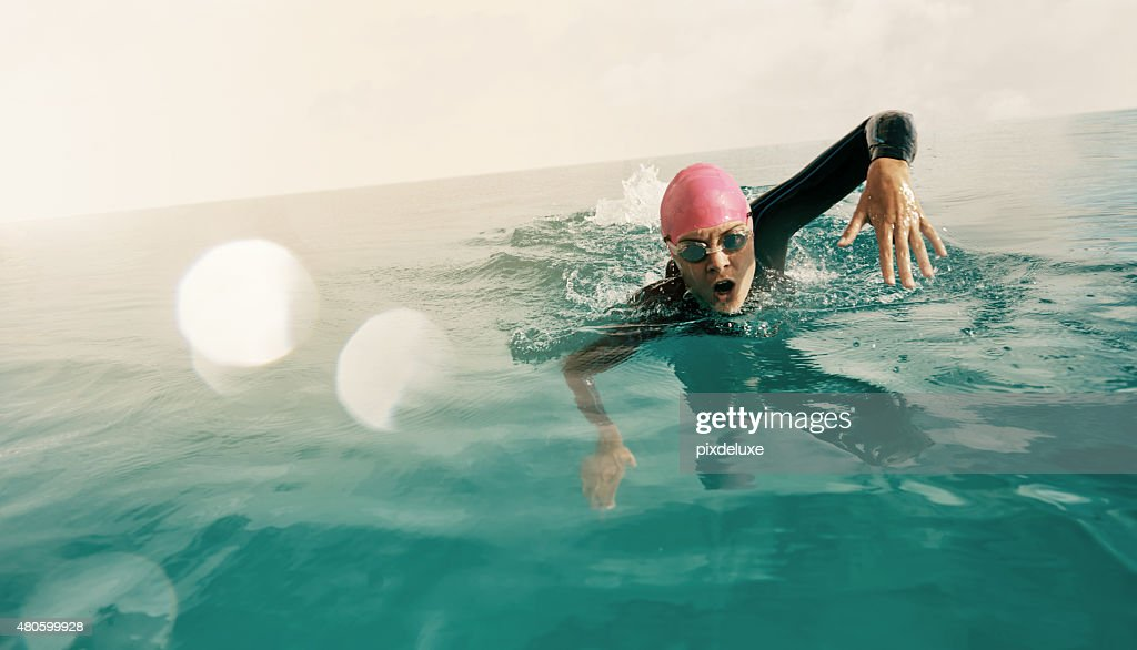 Going against the current : Stock Photo