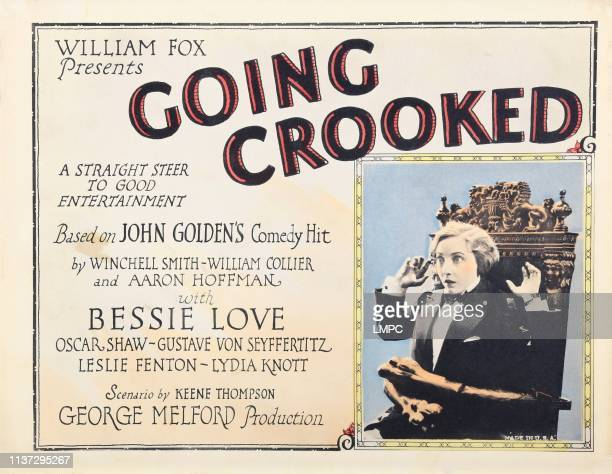 Going Crooked poster US lobbycard Bessie Love 1926