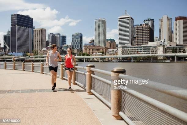 Going for a Jog on Brisbane Southbank