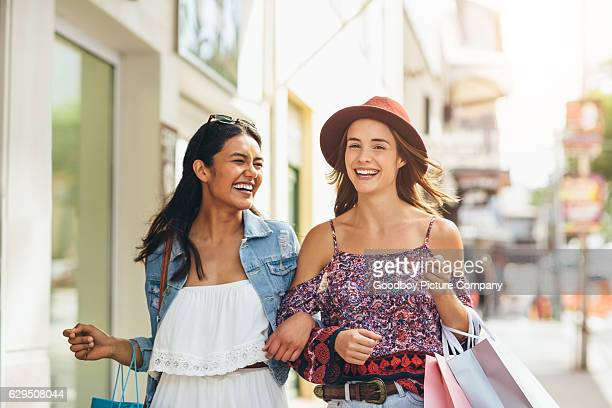 Going from boutique to boutique with my bestie