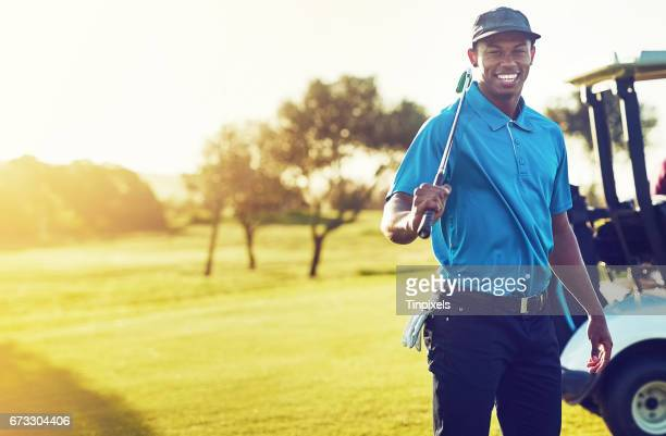 going golfing today and it's gonna be good - golfer stock pictures, royalty-free photos & images