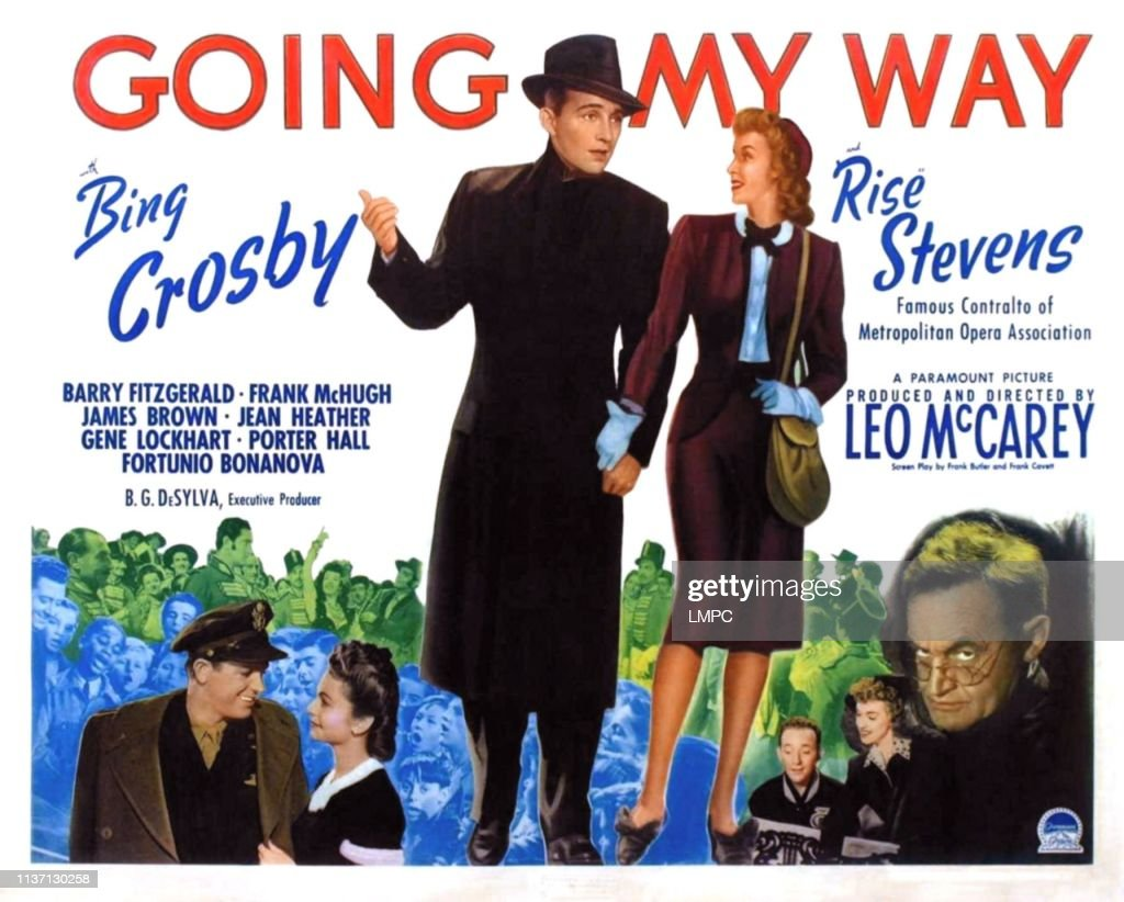 Going My Way, poster, Bing Crosby, Rise Stevens, Barry