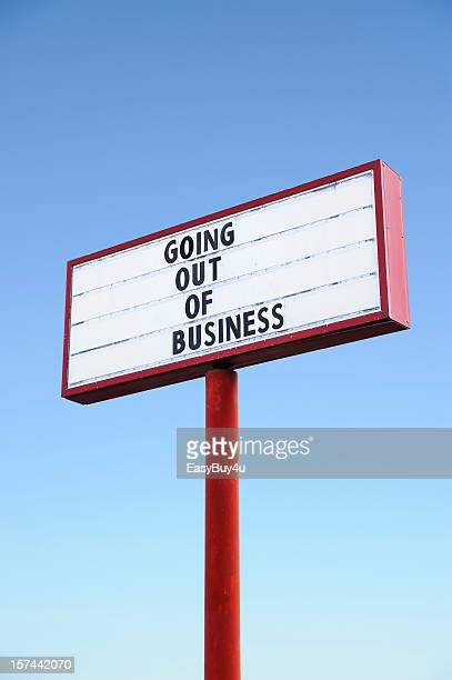 Going out of business commercial sign