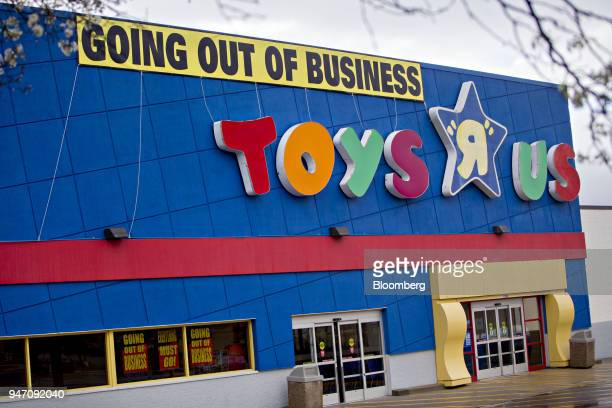 A Going Out Of Business hangs on display outside a Toys R Us Inc retail store in Frederick Maryland US on Monday April 16 2018 Billionaire Isaac...