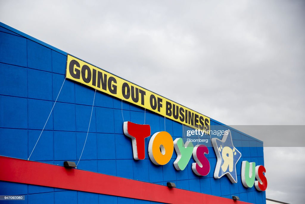 A 'Going Out Of Business' hangs on display outside a Toys R Us Inc. retail store in Frederick, Maryland, U.S., on Monday, April 16, 2018. Billionaire Isaac Larian, the toy marketer whose lineup includes Little Tikes and Bratz dolls, offered to save part of Toys 'R' Us from liquidation with an almost $900 million bid for stores in the U.S. and Canada. Photographer: Andrew Harrer/Bloomberg via Getty Images