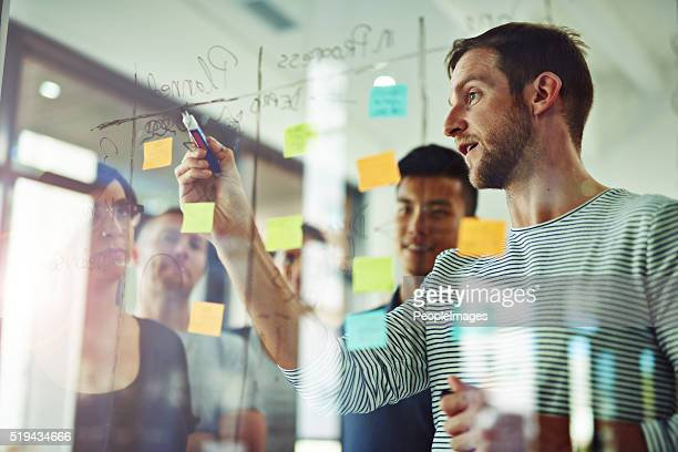 going over every detail - strategie stockfoto's en -beelden