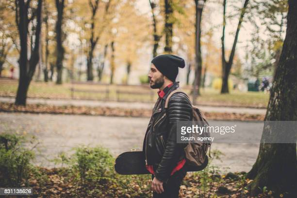 going somewhere - biker jacket stock photos and pictures