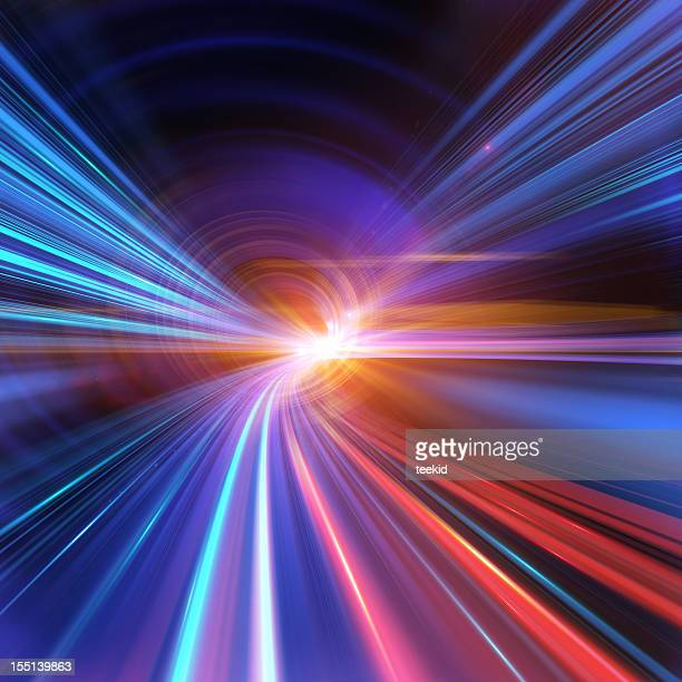 going through a tunnel with high speed - lighting equipment stock photos and pictures