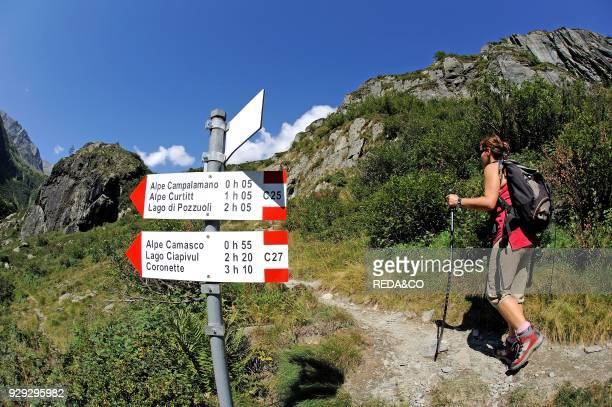 Going to Andolla refuge Antrona Valley Ossola Valley Verbania province Piedmont Italy