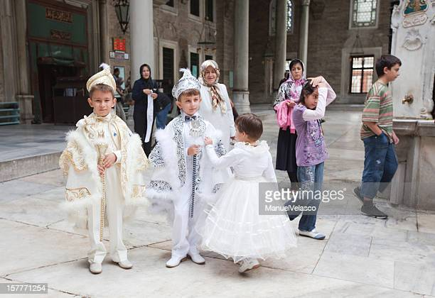 going to circumcision ceremony - circumcision stock pictures, royalty-free photos & images