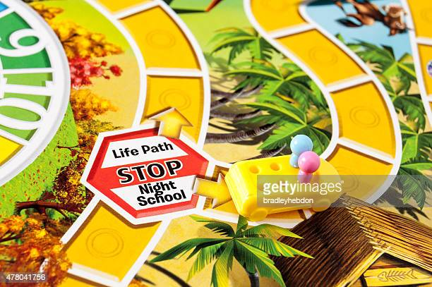 Going to night school in The Game of Life