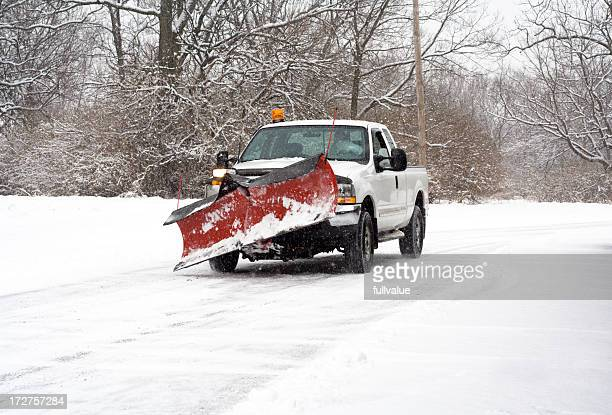 going to plow the roads - snowplow stock pictures, royalty-free photos & images