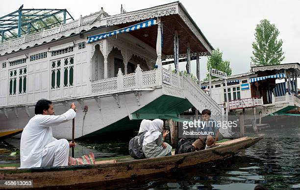 Going to School in Boat Lake Dal India