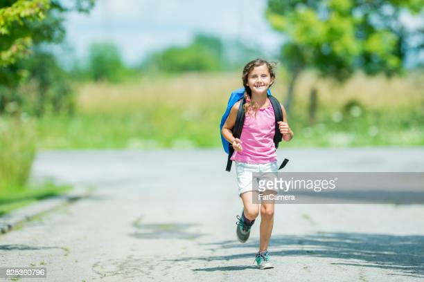 going to school - skipping along stock pictures, royalty-free photos & images