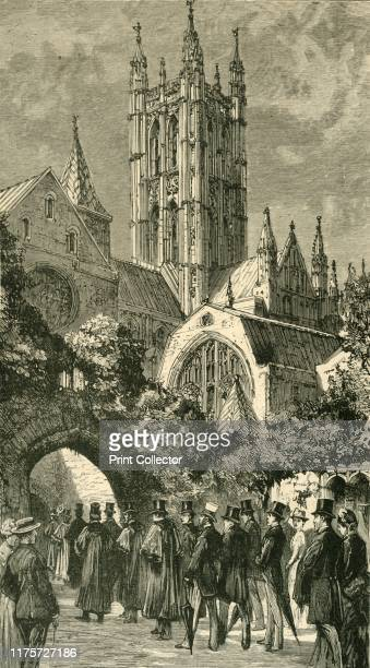 Going To Service By The Dark Entry 'Colonial and Indian Visitors at Canterbury' 1886 'A large party of Colonists and Indians connected with the...