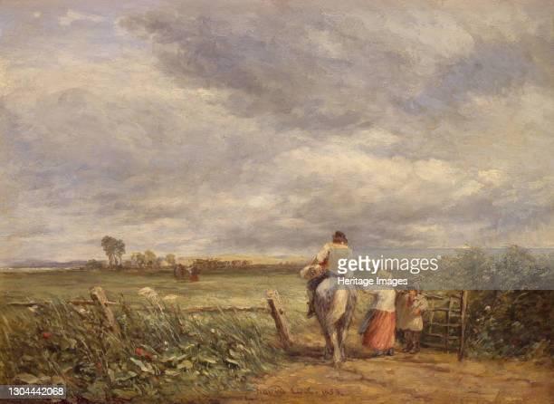 Going to the Hayfield, 1853. Artist David Cox the elder.