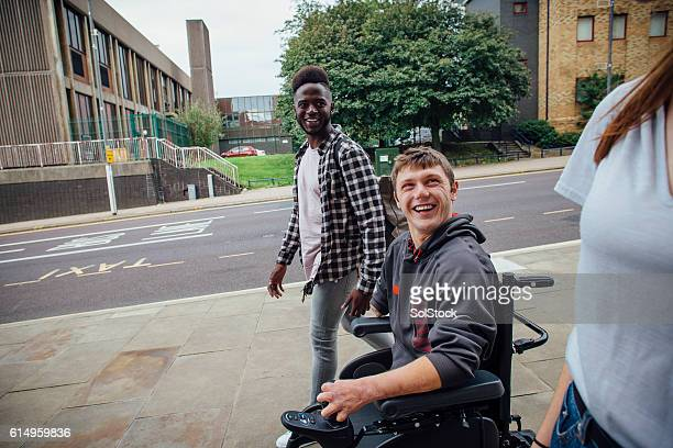 going to town - paraplegic stock photos and pictures