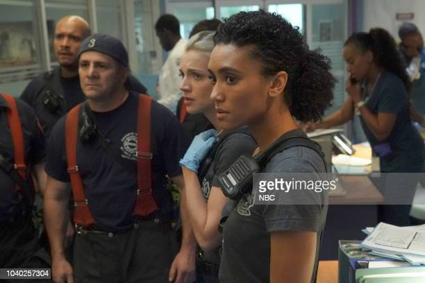 FIRE 'Going to War' Episode 702 Pictured Joe Minoso as Joe Cruz Tony Ferraris as Tony Kara Killmer as Sylvie Brett Annie Ilonzeh as Emily Foster