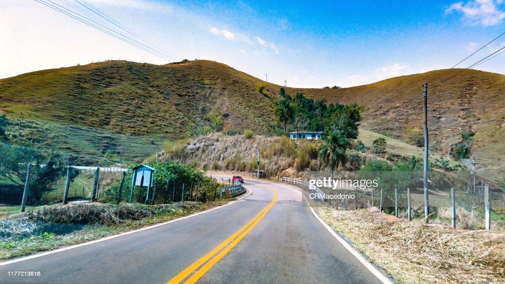 Going up the mountains of Rio de Janeiro. : Stock Photo