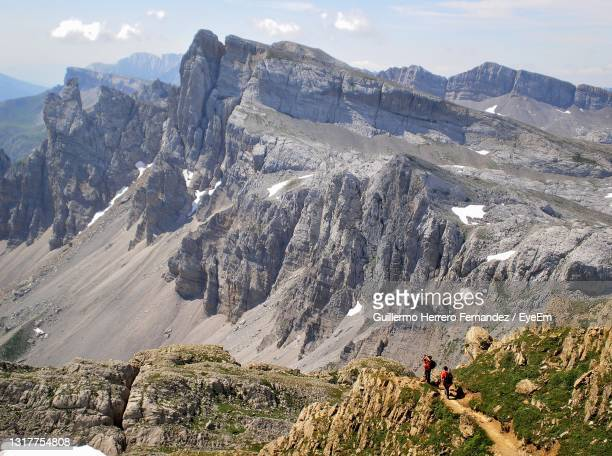 going up to the table of the three kings we have a magnificent view of the petrechema peak . - pamplona stock pictures, royalty-free photos & images