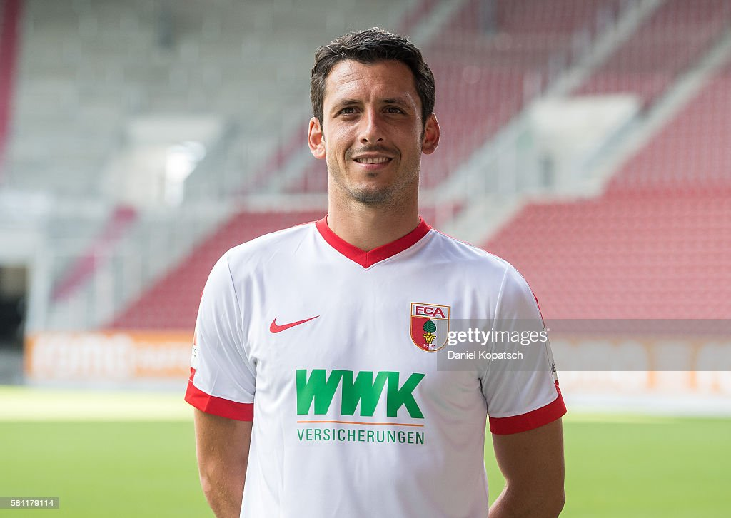 Gojko Kacar poses during the Team Presentation of FC Augsburg on July 28, 2016 in Augsburg, Germany.