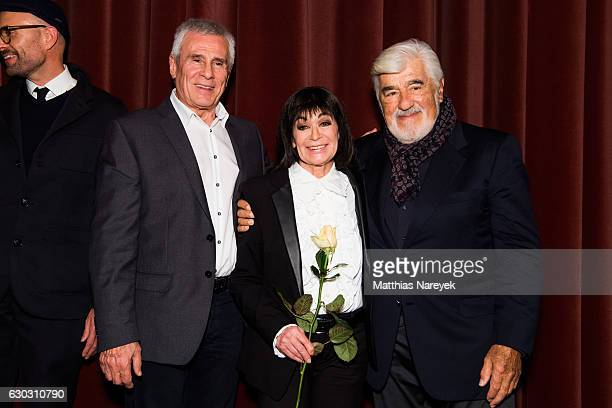 Gojko Mitic Mario Adorf and Marie Versini attend the 'Winnetou Eine neue Welt' premiere at Delphi on December 14 2016 in Berlin Germany
