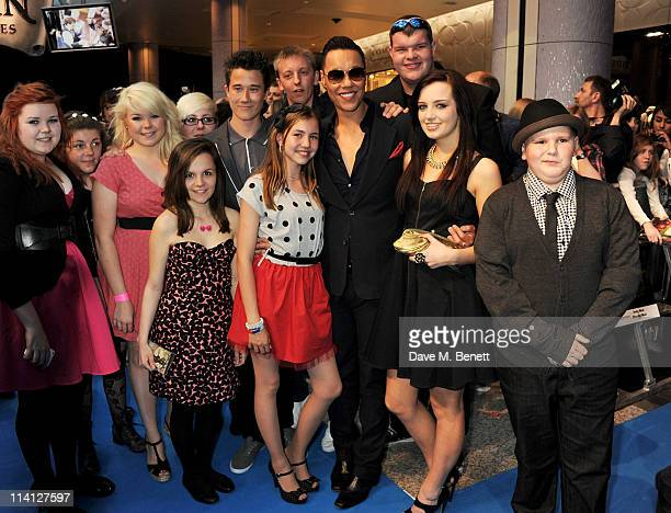 Gok Wan and the cast of Gok's Teens The Naked Truth arrive at the UK Premiere of 'Pirates of the Caribbean On Stranger Tides' at Vue Westfield on May...