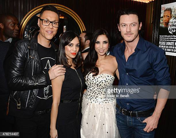 Gok Wan Fiona Wade Francine Lewis and Luke Evans attend at the 'You'll Never Walk Alone' Gala Concert in aid of the Phillippines Typhoon Appeal at...