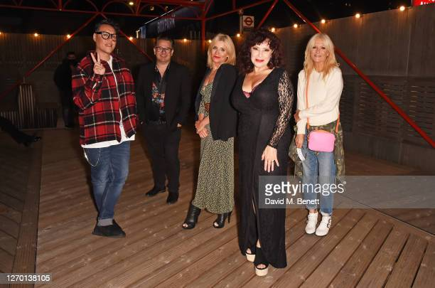 Gok Wan guest Michelle Collins Harriet Thorpe and Gaby Roslin attend the press night performance of Sleepless The Musical at the Troubadour Wembley...