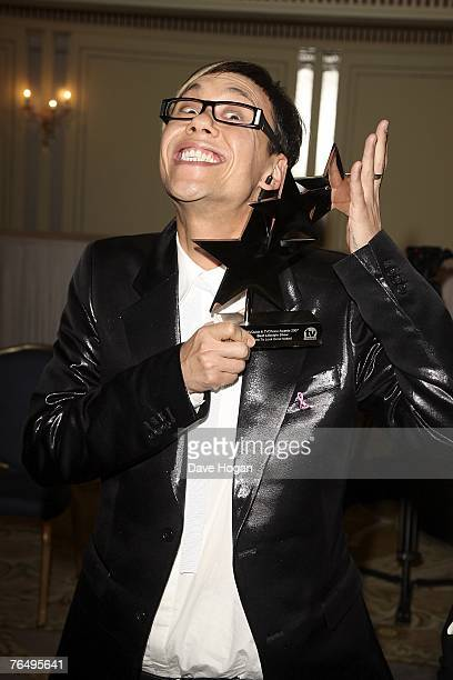 Gok Wan poses with his award for best lifestyle show How to Look Good Naked at the 2007 TV Quick and TV Choice Awards at the Dorchester Hotel...