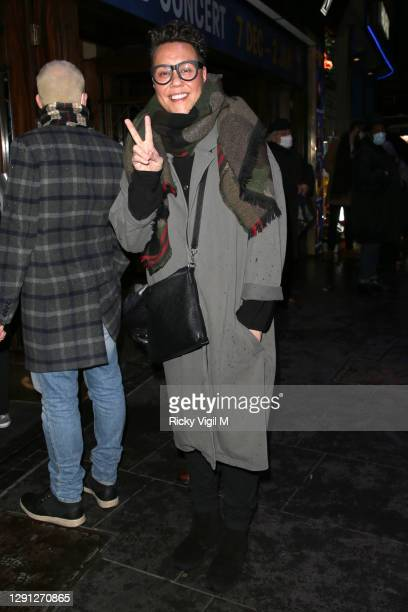 "Gok Wan seen attending the ""A Christmas Carol"" opening night at the Dominion Theatre on December 14, 2020 in London, England."