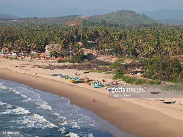 gokarna beach - karnataka stock pictures, royalty-free photos & images