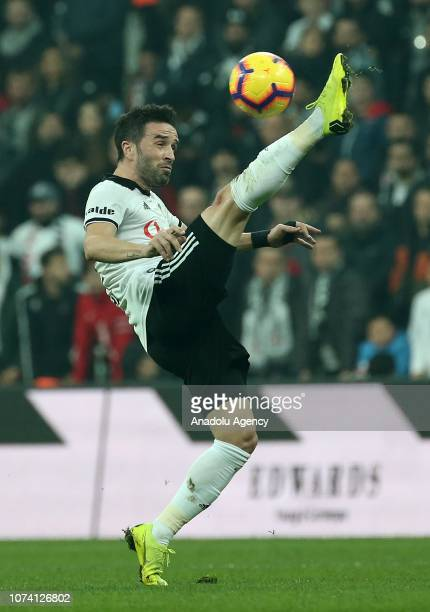 Gokhan Gonul of Besiktas in action during Turkish Super Lig soccer match between Besiktas and Trabzonspor at the Vodafone Park in Istanbul Turkey on...